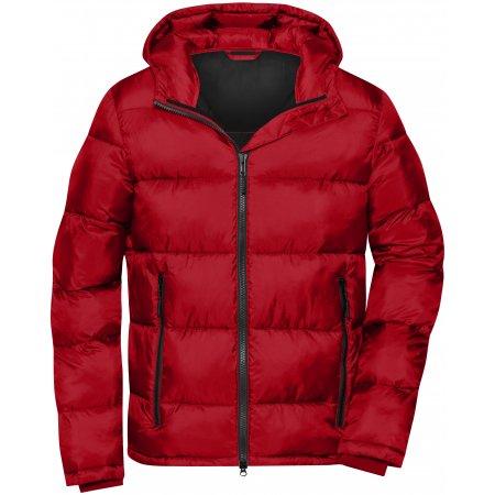 Pánská premium bunda JAMES NICHOLSON JN1168 RED/BLACK