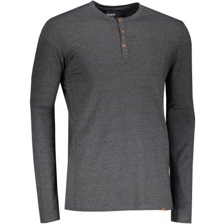 Pánské triko s dlouhým rukávem SAM 73  PATRICK MT 784 ČERNÁ