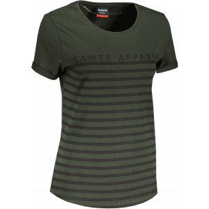 Dámské triko s krátkým rukávem SAM 73  LANE WT 834 ARMY