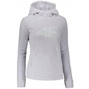 Dámská fleece mikina 4F NOSH4-PLD352 COLD LIGHT GREY
