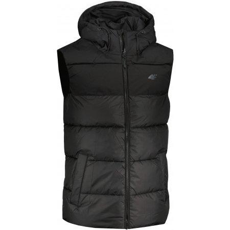 Pánská vesta 4F H4Z21-KUMP002 DEEP BLACK