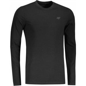 Pánské triko s dlouhým rukávem 4F NOSH4-TSML350 DEEP BLACK