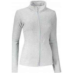 Dámská fleece mikina 4F NOSH4-PLD350 COLD LIGHT GREY MELANGE