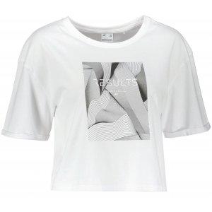 Dámské triko 4F H4Z21-TSD029 WHITE
